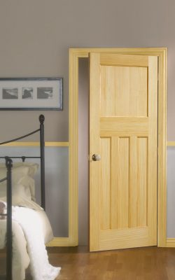 1930's Clear Pine 4 Panel Internal Door