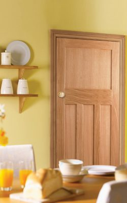 LPD 1930's Oak 4 Panel Unfinished FD30 Fire Door