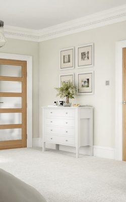 LPD Pre-Finished Oak- Contemporary 5 panel Internal Door