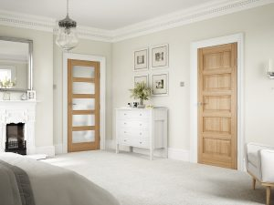 fire doors UK Contemporary 5P Oak - Bedroom