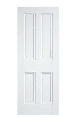 VICTORIAN CLEAR PINE FOUR PANEL PRIMED INTERNAL DOOR
