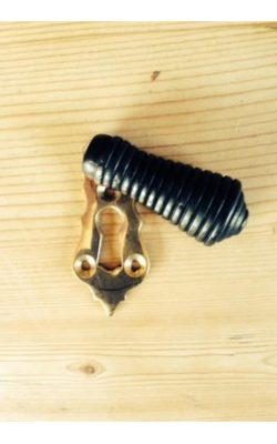 Beehive Ebony Brass Escutcheon 57mm