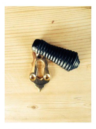 Beehive Ebony Brass Escutcheon 57mm