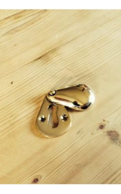 Peardrop Solid Brass Escutcheon 50mm