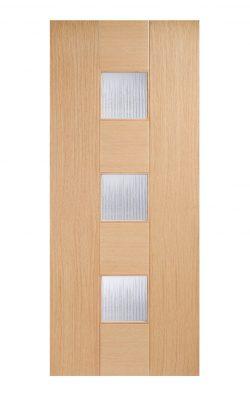 Catalonia Internal Glazed Door Oak-Metric