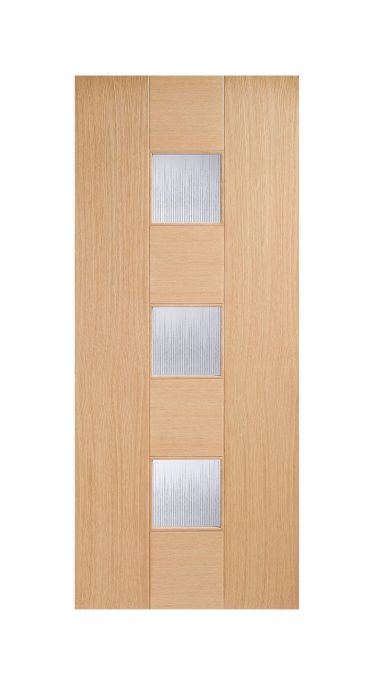Catalonia Internal Glazed Door Oak-Metric