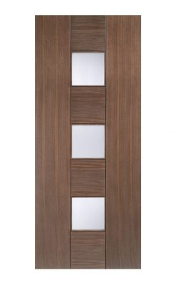 Catalonia Internal Walnut Glazed Door -Metric