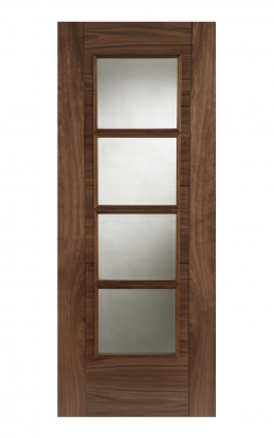 Walnut Iseo Central 4 Light glazed Internal Standard Door - Imperial