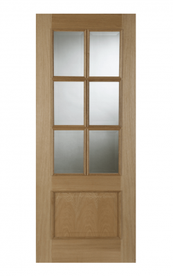 OAK IRIS 6 LIGHT GLAZED INTERNAL FIRE DOOR