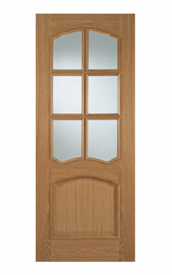 LPD Oak Riviera RM2S 6 Light Internal Glazed Door - ImperialLPD Oak Riviera RM2S 6 Light Internal Glazed Door - Imperial