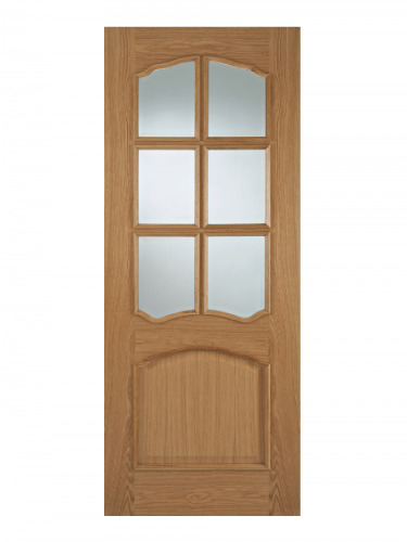 LPD Oak Riviera RM2S 6 Light Internal Glazed Door - Imperial