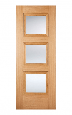 LPD Oak Amsterdam 3 Light Internal Glazed Door - ImperialLPD Oak Amsterdam 3 Light Internal Glazed Door - Imperial