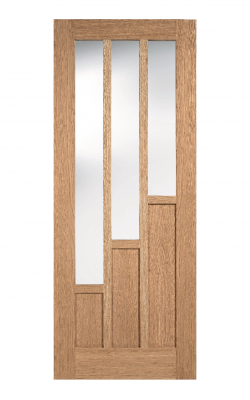 LPD Oak Coventry Pre-Finished 3 Light Internal Glazed Door - ImperialLPD Oak Coventry Pre-Finished 3 Light Internal Glazed Door - Imperial
