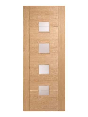 LPD Oak Vancouver 4 Light Small Internal Glazed Door - Imperial