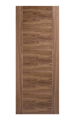 LPD Walnut Vancouver 5 Panel FD30 Fire Door - ImperialLPD Walnut Vancouver 5 Panel FD30 Fire Door - Metric