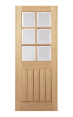 LPD Oak Mexicano 6 Light Internal Glazed Door - MetricLPD Oak Mexicano 6 Light Internal Glazed Door - Metric