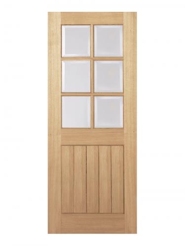 LPD Oak Mexicano 6 Light Internal Glazed Door - Metric