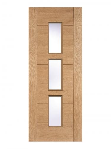 LPD Oak Hampshire 3 Light Internal Glazed Door - Imperial