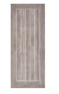 LPD Light Grey Laminated Mexicano FD30 Fire DoorLPD Light Grey Laminated Mexicano FD30 Fire Door