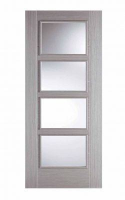 LPD Light Grey Vancouver 4 Light Glazed Fire DoorLPD Light Grey Vancouver 4 Light Glazed Fire Door