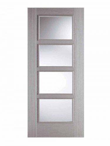 LPD Light Grey Vancouver 4 Light Glazed Fire Door
