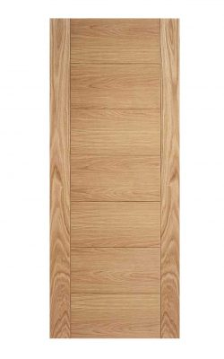 Oak Carini 7P Pre-Finished FD30 Fire Door.
