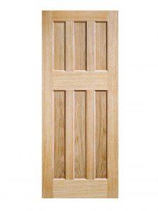 Oak DX 60s Style FD30 Fire Door
