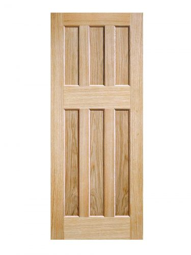 LPD Oak DX 60s Style FD30 Fire Door