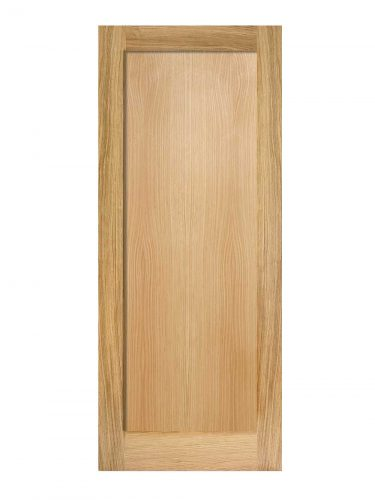 Oak Pattern 10 One Panel FD30 Fire Door.