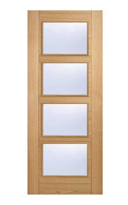 LPD Oak Vancouver 4 Light Glazed FD30 Fire DoorLPD Oak Vancouver 4 Light Glazed FD30 Fire Door