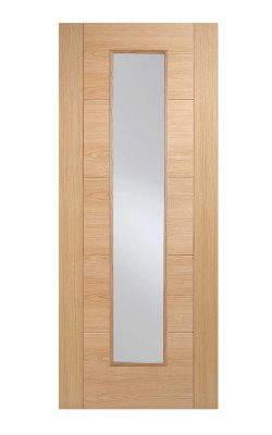 Oak Vancouver Long Light FD30 Fire Door.