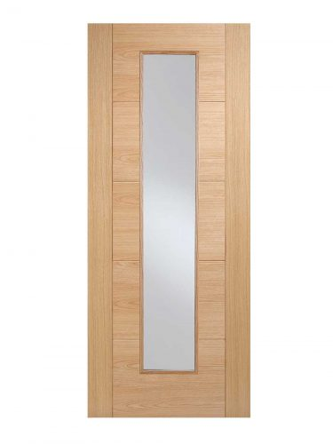 Oak Vancouver Long Light FD30 Fire Door.