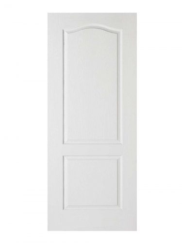 White Moulded Classical 2P FD30 Fire Door.