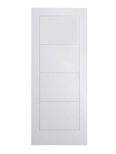 White Moulded Ladder FD30 Fire Door.