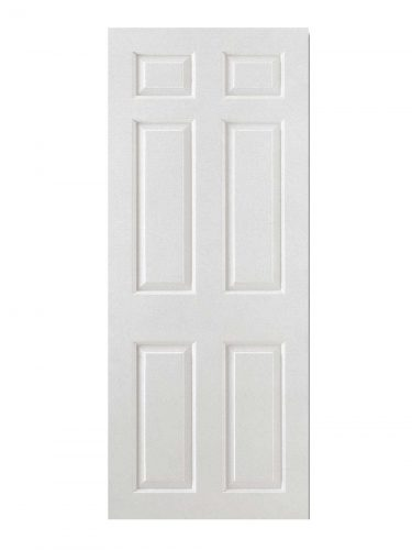 White Moulded Smooth 6P Square Top FD30 Fire Door