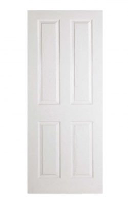 White Moulded Textured 4P FD30 Fire Door