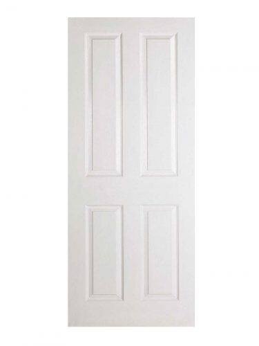 White Moulded Textured 4P FD30 Fire Door.