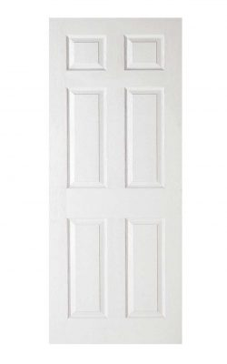 LPD White Moulded Textured 6-Panel FD30 Fire DoorLPD White Moulded Textured 6-Panel FD30 Fire Door