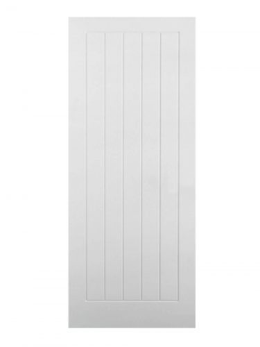 LPD White Moulded Textured Vertical 5P FD30 Fire Door