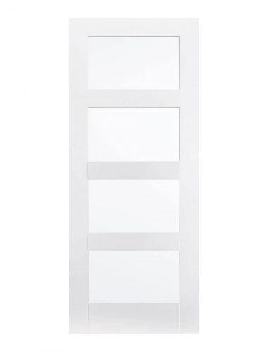 LPD White Shaker 4-Panel FD30 Fire Door