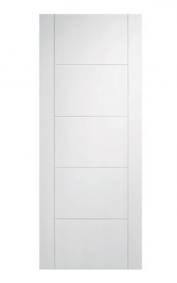 White Vancouver 5P FD30 Fire Door