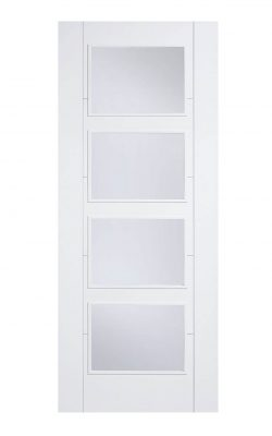 LPD White Vancouver  4 Light Clear Glazed Fire DoorLPD White Vancouver  4 Light Clear Glazed Fire Door