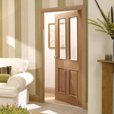 glazed regency style fire door