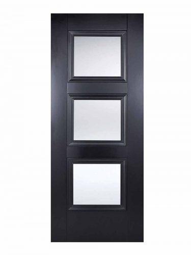 LPD Black Amsterdam 3-light Internal Glazed Door