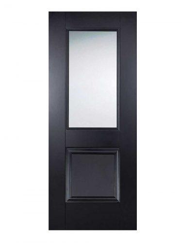 LPD Black Arnhem 1-Light Internal Glazed Door