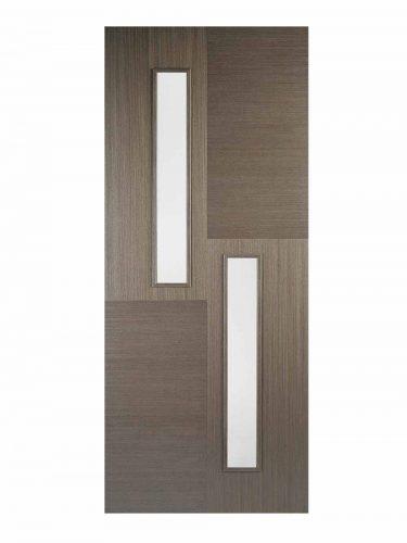 LPD Chocolate Grey Hermes Internal Glazed Door 1L