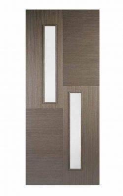 LPD Chocolate Grey Hermes Internal Glazed Door 2LLPD Chocolate Grey Hermes Internal Glazed Door 2L