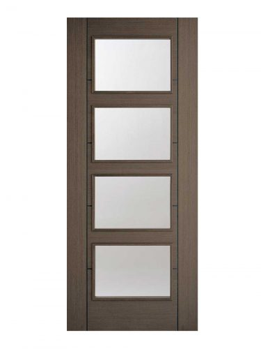 LPD Chocolate Grey Vancouver Internal Glazed Door 4L