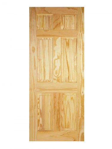 LPD Clear Pine 6-Panel Internal Door
