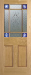 Period Victorian doors Downham 9L Glazed_Oak